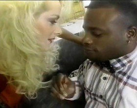 Dolly Pardon Cums On A Black Dick