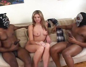 Two Huge Black Dicks For A White