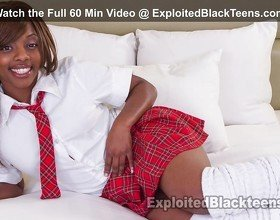 Petite Ebony Teen Loves it Hard in
