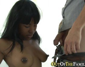 Real ebony slut fucked