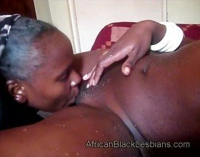 Naughty African lezzie has sharp