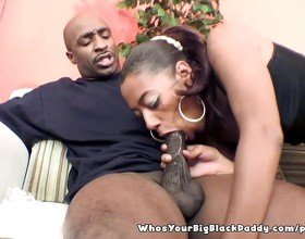 BigAss Ebony Sucking On BBC