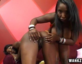 Big Boobed Black Babe Fucked By A