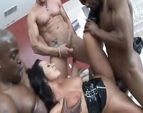Sandra Romain Fucked Hard By Two