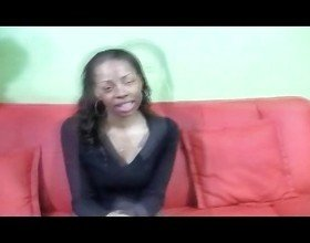 Slim Ebony Teen Exposed first time