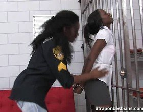 ebony inmate gets assfucked by