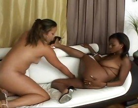 Two Horny Lesbians Having Fun With
