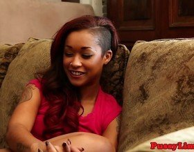 Roughsex loving ebony babe nailed