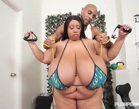 SSBBW Cotton Candi Works Out Her