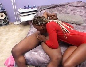 Black Slut Gets Mouth Fucked And