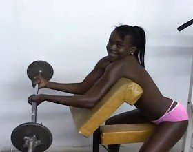 Athletic Black Babes Working Out