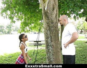 ExxxtraSmall - Hot Ebony Bounces on