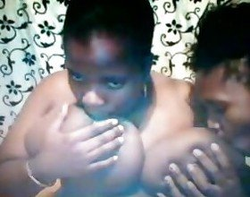 Two hot ebony bisexual chicks